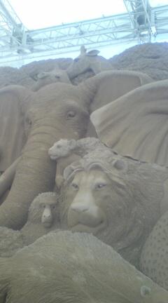 砂の美術館なう